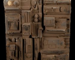 Miniature cityscape detail movie prop panel from Blade Runner