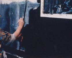 Original matte painting from Blade Runner