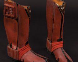 "The Last Starfighter Kodan warrior equipment belt, ""communicator"" and Ko-Dan warrior boots"