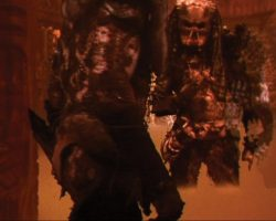 """Screen-used """"Hippie"""" movie prop Predator suit with head from Predator 2"""