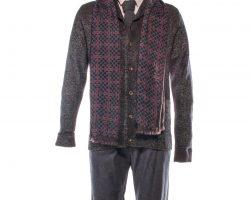 The Strain Abraham David Bradley Screen Worn Sweater Shirt Pants Scarf & Tie