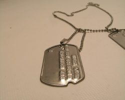 Inglourious Basterds Lt. Aldo Raine Brad Pitt Dog Tags