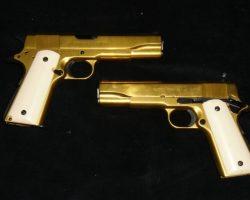 The Butcher Eric Roberts Gold Plated handguns