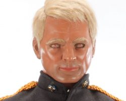 """Commodore Goddard """"blinker"""" puppet head from the 1967 TV series, Captain Scarlet and the Mysterons"""
