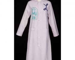 "Penny Marshall ""Laverne DeFazio"" Shotz Brewery smock from Laverne & Shirley"
