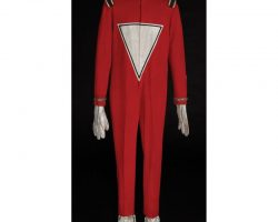 "Robin Williams ""Mork from Ork"" signature space-suit costume designed by Robert Fuca for Mork &…"