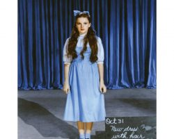 """Judy Garland """"Dorothy Gale"""" solid blue cotton test dress by Adrian from The Wizard of Oz"""