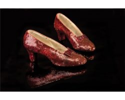 """Judy Garland """"Dorothy Gale"""" screen-worn ruby slippers from The Wizard of Oz"""