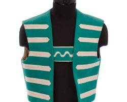 The Wizard of Oz Emerald City resident vest designed by Adrian