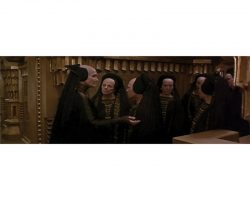 Five screen-used dresses worn by Novices of the Bene Gesserit Order in Dune