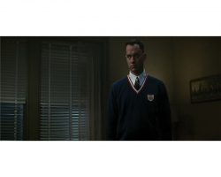 """Tom Hanks """"Forrest"""" navy pullover with table tennis patch from Forrest Gump"""