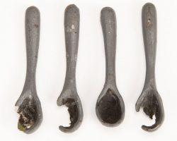Four Sally spoons from The Nightmare Before Christmas