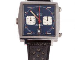 """Steve Mcqueen Hero """"Michael Delaney"""" Heuer Monaco Wristwatch Screen-Worn In Le Mans"""