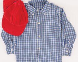 """Haley Joel Osment """"Little Forrest"""" Checker-Pattern Lng-Sleeve Shirt & Baseball Cap"""