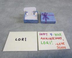 Ted Lori Mila Kunis Screen Used Anniversary Gift Earrings & Card Set