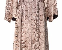 "Sharon Stone ""Ginger Mckenna"" Signed Faux-Snakeskin Coat-Dress And Hot Pants"