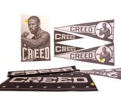 Creed 2 Production Used Creed Banner & Pennant Set