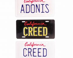 Creed 2 Adonis Creed MIchael B Jordan Production Used License Plate Set
