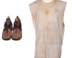 Creed 2 Adonis Creed MIchael B Jordan Screen Worn Shirt & Shoes Ch 49 Sc 182-189