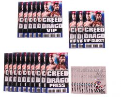 Creed 2 Production Used Creed Vs Drago Barclays Fight Pass Set