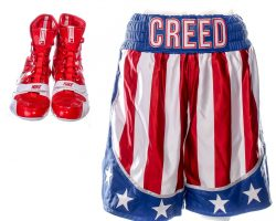 Creed 2 Adonis Creed MIchael B Jordan Screen Worn Shorts Boxing & Shoes Ch 18