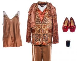 Creed 2 Mary Anne Phylicia Rashad Production Worn Jacket Shirt Set Pants Shoes