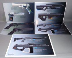 RoboCop Production Used Weapon Modifications Concept Art Set