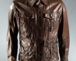 RoboCop Vallon Patrick Garrow Screen Worn Massimo Dutti Leather Jacket SC 120