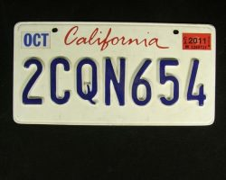 Ryan Goslings License Plate from Drive