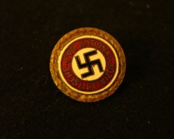 Prototype Nazi Golden Party Badge from Schindlers