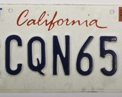 Ryan Gosling License Plate from Drive