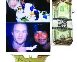 Screen Used Batarang and Prop Money from The Dark