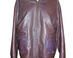Leather Jacket Used by Harrison Fords Stunt Double