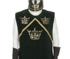 Matthew Broderick Medieval Tunic, Gloves and Helme