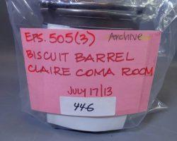 Warehouse 13 Screen Used Alessandro Volta Biscuit Barrel Artifact Prop Ep 503