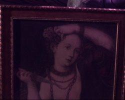 Warehouse 13 Screen Used Lucrezia Borgia Framed Painting Prop Ep 101