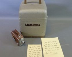 Warehouse 13 Screen Used Super 8 Projector 8mm Camera and Letter Prop Set Ep 210