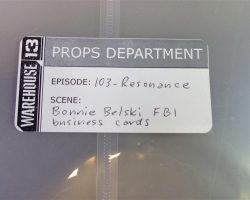 Warehouse 13 Screen Used Eric Marsden Record Artifact and Prop Set Ep 102