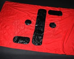 V (TV Series) Large Red Visitors Flag