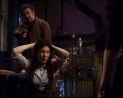 Warehouse 13 Hg Wells Jaime Murray Screen Worn Blouse and Vest Ep 210