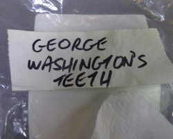 Warehouse 13 Screen Used George Washington Teeth Artifact Prop Ep 109