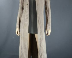 Warehouse 13 Hg Wells Jaime Murray Screen Worn Trench Coat and Tank Top Ep 211