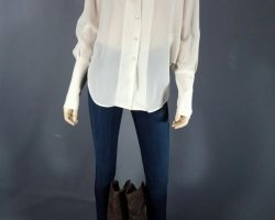 Warehouse 13 Myka Joanne Kelly Screen Worn Theory Blouse Pants and Boots Ep 302