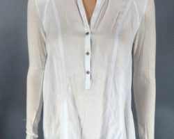 Warehouse 13 Hg Wells Jaime Murray Screen Worn Helmut Lang Blouse and Vest Top