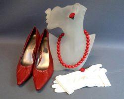 Warehouse 13 Myka Joanne Kelly Screen Worn Dress Belt Gloves Jewlery Scarf Shoes