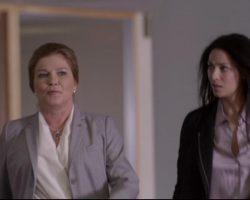 Warehouse 13 Jane Lattimer Kate Mulgrew Arkris Punto Suit and Theory Blouse Ep 308