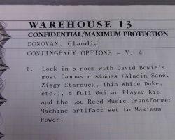 Warehouse 13 Claudia Allison Scagliotti Screen Used Maps Death File Invitations