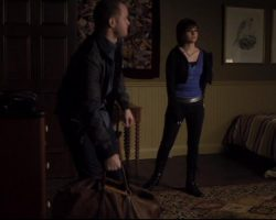 Warehouse 13 Claudia Allison Scagliotti Screen Worn Sweater Shirts Pants and Boots