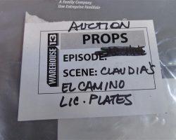 Warehouse 13 Claudia Allison Scagliotti Screen Used El Camino License Plates