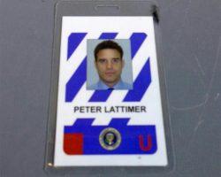 Warehouse 13 Pete Lattimer Eddie Mcclintock Screen Used Id Badge Ep 209
